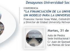 El Consejo Social de la ULPGC abre el debate sobre el modelo de financiación de la Universidad española
