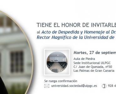 Acto de Despedida al Rector José Regidor, organizado por el Consejo Social de la ULPGC